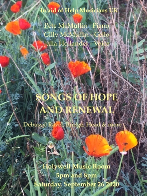 Songs of Hope and Renewal – Holywell, Oxford, Sept 26